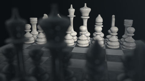 Chess Board 01 Stock Video Footage