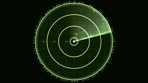 Radar Screen 01 (24fps) Stock Video Footage