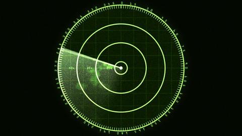 Radar Screen 01 (30fps) Stock Video Footage