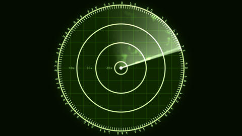 Radar Screen 02 (25fps) CG動画素材
