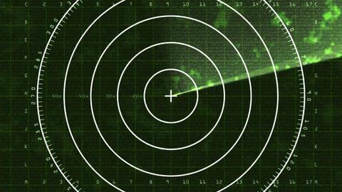 Radar Screen 03 (24fps) Stock Video Footage