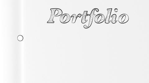 Portfolio Folder Opening Bluescreen Intro Stock Video Footage