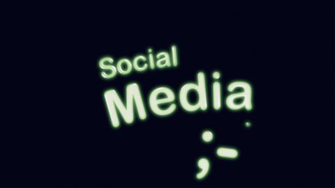 Social Media Diagram Animation on Black Stock Video Footage
