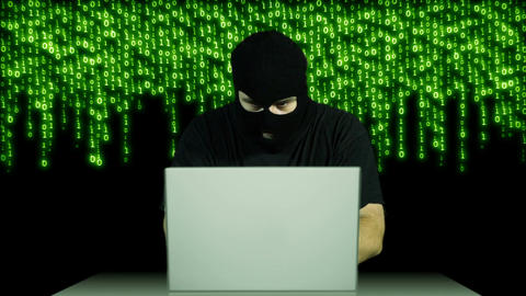 Hacker Working Table Arrested 3 Stock Video Footage