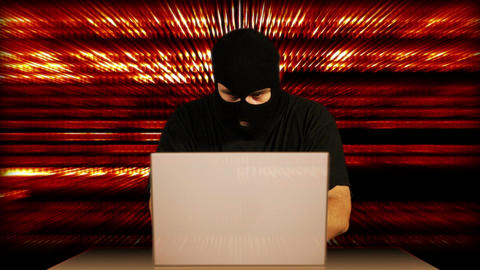 Hacker Working Table Arrested 13 Stock Video Footage