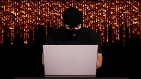 Hacker Working Table Arrested 17 Stock Video Footage