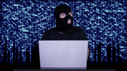 Hacker Working Table Arrested 19 Stock Video Footage