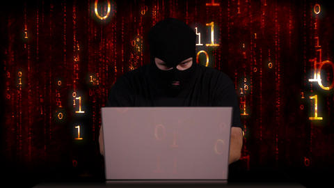 Hacker Working Table Arrested 21 Stock Video Footage