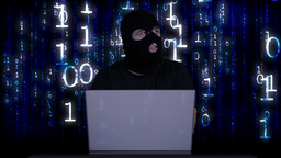 Hacker Working Table Arrested 23 Footage