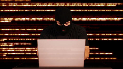 Hacker Working Table Arrested 25 Stock Video Footage