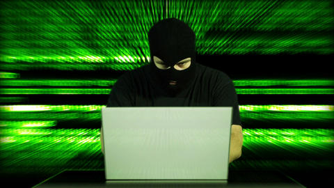 Hacker Working Table Arrested 29 Stock Video Footage