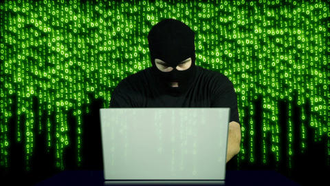 Hacker Working Table Fails 3 Stock Video Footage
