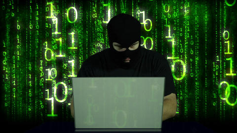 Hacker Working Table Fails 7 Stock Video Footage