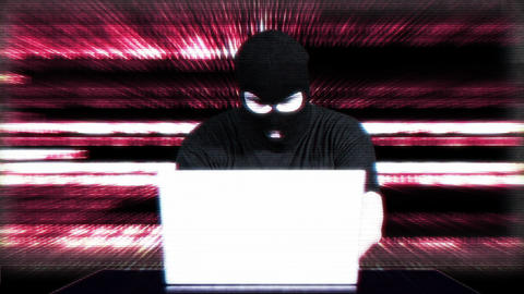 Hacker Working Table Fails Matrix 3 Stock Video Footage