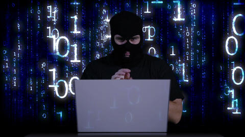 Hacker Working Table Success 8 Stock Video Footage