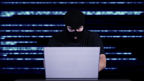 Hacker Working Table Success 12 Stock Video Footage