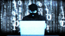 Hacker Working Table Success Matrix 2 Stock Video Footage