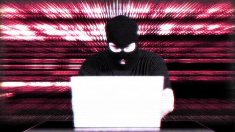 Hacker Working Table Success Matrix 4 Stock Video Footage