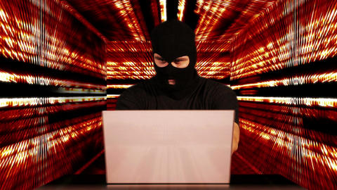 Hacker Working Table Success Tunnel BG 4 Stock Video Footage