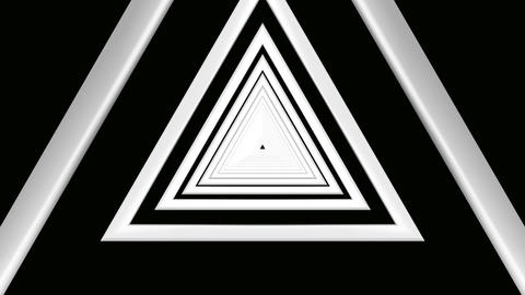 triangle white tunnel Animation