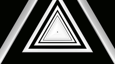triangle white tunnel Stock Video Footage