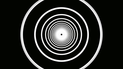white ring tunnel Stock Video Footage