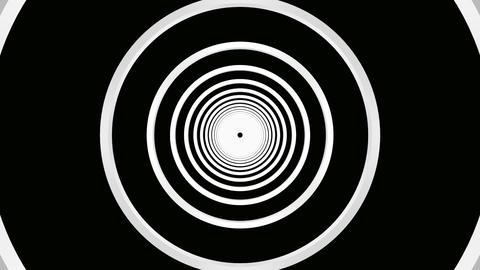 luminance rings tunnel Stock Video Footage