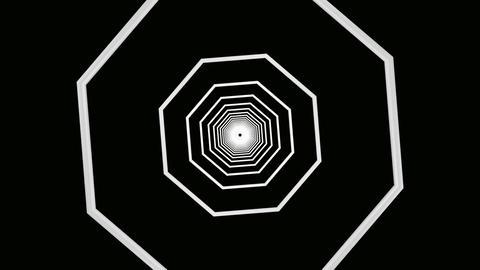 matte octagon tunnel Animation
