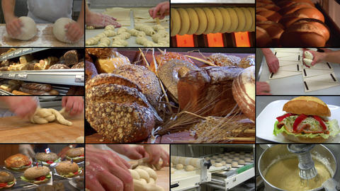 bakery bread compilation montage 10864 Stock Video Footage