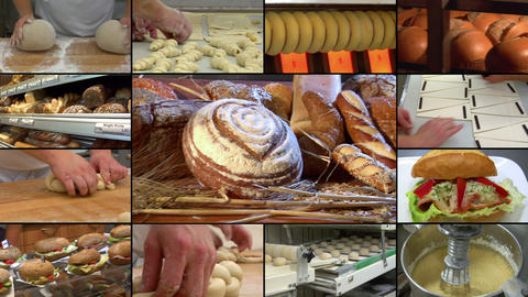 Bakery Bread Compilation Montage 10864 stock footage