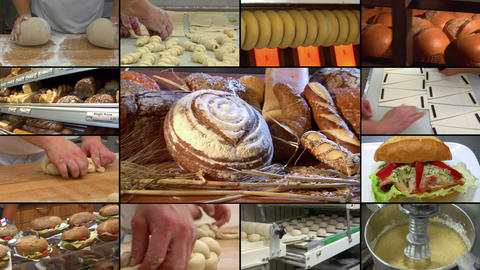 bakery bread compilation montage 10864 Footage