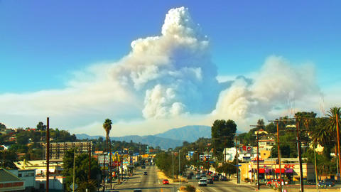 California Wildfire Time-lapse Composite Footage