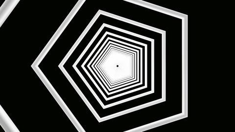 pentagon white tunnel Stock Video Footage
