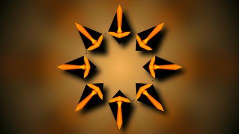 starlish rotation array Stock Video Footage
