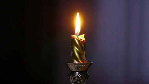 candle burning Stock Video Footage