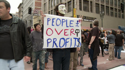 20120501 Occupy LA A 025 Stock Video Footage