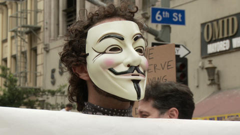 20120501 Occupy LA A 027 Stock Video Footage
