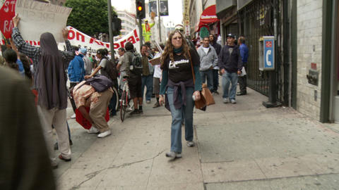 20120501 Occupy LA A 035 stock footage