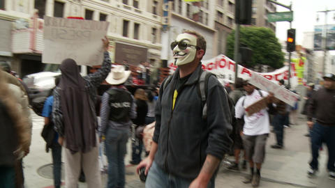 20120501 Occupy LA A 035 Stock Video Footage