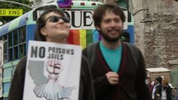 20120501 Occupy LA A 061 Stock Video Footage