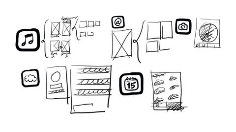 Mobile Apps Wireframing, Prototyping Stock Video Footage