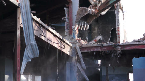 Destruction of Building Stock Video Footage