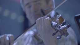 Male musician playing the violin Footage