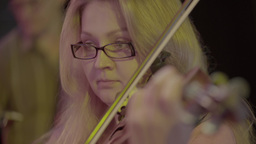 Female violinist playing the violin Footage
