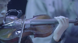 Violinist playing the violin Footage