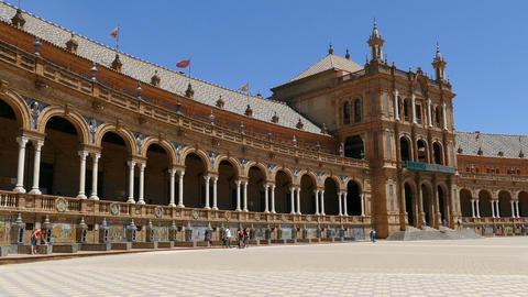 Plaza De Espana, Seville, square GIF