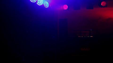 Concert reflectors and a dj table Live Action