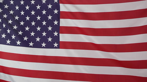 Flag of United States moving in the wind Live Action