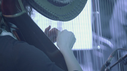 The harpist plays the Harp in the orchestra Footage