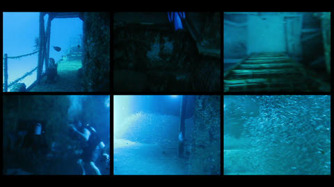 Composition from diving on a wreck Footage